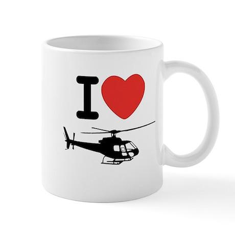 I Heart Helicopter Mug
