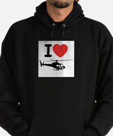 I Heart Helicopter Hoodie (dark)