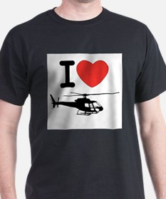 I Heart Helicopter T-Shirt