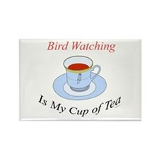 Bird Watching is my cup of tea Rectangle Magnet
