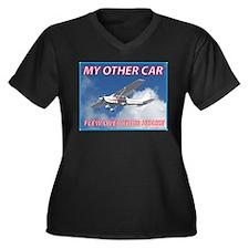 My Other Car- Cessna Women's Plus Size V-Neck Dark