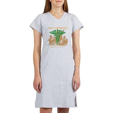 Navy Medicine Green/Coyote Women's Nightshirt