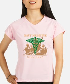 Navy Medicine Green/Coyote Performance Dry T-Shirt