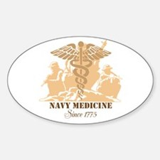 Navy Medicine Since 1775 Sticker (oval 10 Pk)