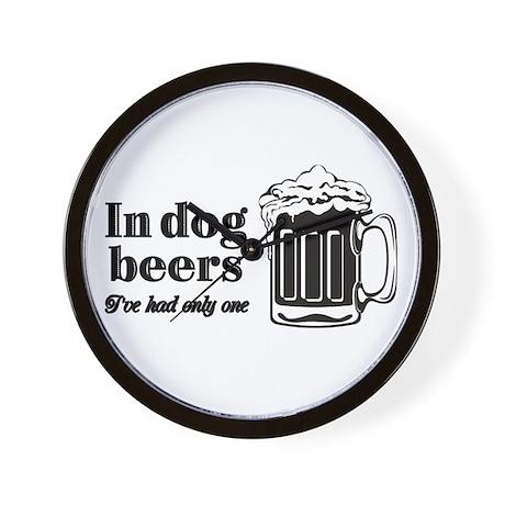 Dog Beers Wall Clock