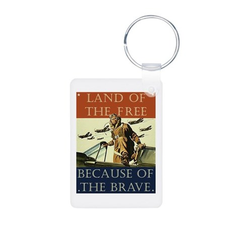 Land of the Free Aluminum Photo Keychain