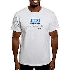 People Who Know Everything-Issac Azimov t-shirt Li