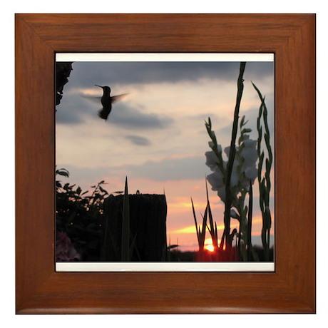 Hummer Angel Framed Tile
