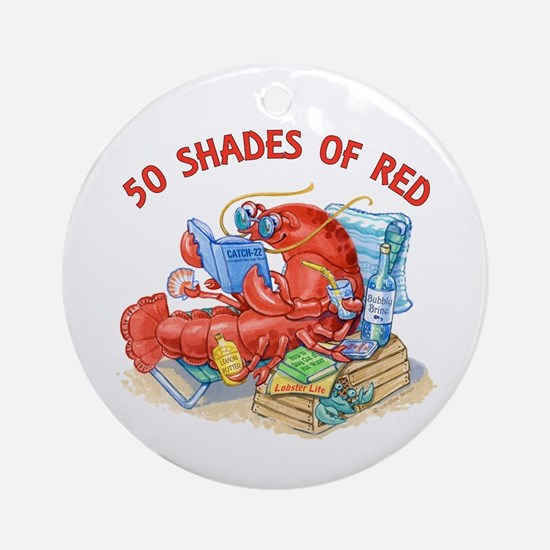 50 Shades of Red Ornament (Round)