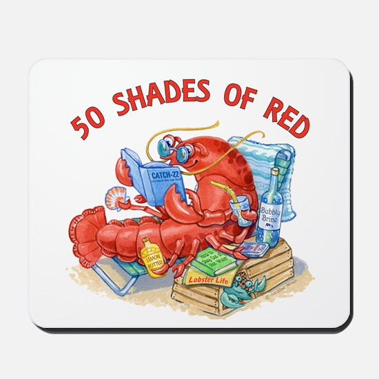 50 Shades of Red Mousepad