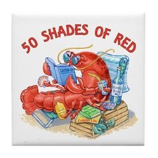 50 Shades of Red Tile Coaster