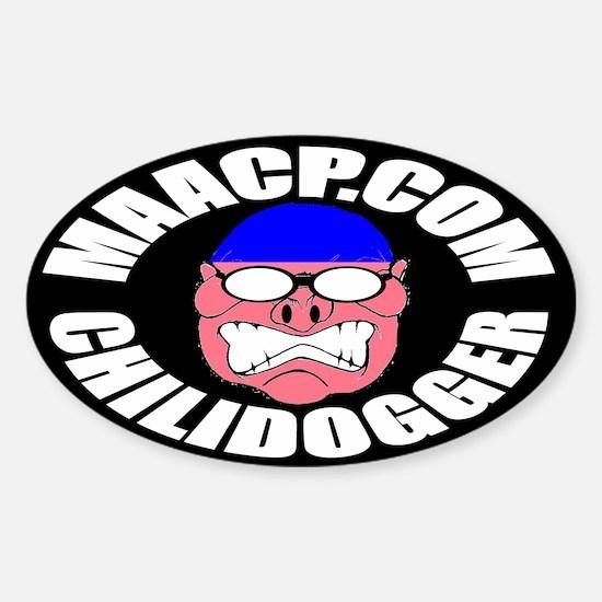 MAACP CHILIDOGGER Oval Decal