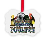 Team Poultry Picture Ornament