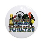 Team Poultry Ornament (Round)