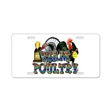 Team Poultry Aluminum License Plate