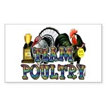 Team Poultry Sticker (Rectangle 50 pk)