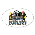 Team Poultry Sticker (Oval 50 pk)