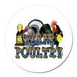Team Poultry Round Car Magnet
