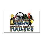 Team Poultry Rectangle Car Magnet