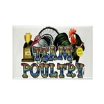 Team Poultry Rectangle Magnet (100 pack)