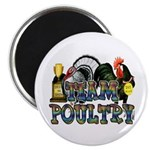 "Team Poultry 2.25"" Magnet (100 pack)"