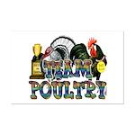 Team Poultry Mini Poster Print