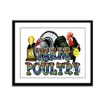 Team Poultry Framed Panel Print