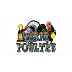 Team Poultry 35x21 Wall Decal