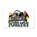 Team Poultry 20x12 Wall Decal
