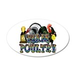 Team Poultry 20x12 Oval Wall Decal