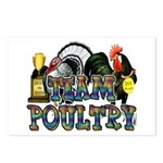 Team Poultry Postcards (Package of 8)
