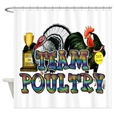 Team Poultry Shower Curtain