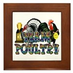 Team Poultry Framed Tile