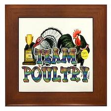 Team Poultry Framed Tile