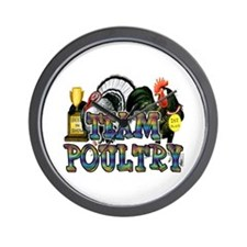 Team Poultry Wall Clock