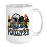 Team Poultry Large Mug