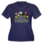 Team Poultry Women's Plus Size V-Neck Dark T-Shirt