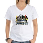 Team Poultry Women's V-Neck T-Shirt