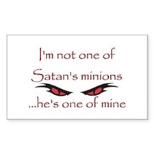 Satan's Minion Rectangle Decal