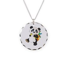 Panda bear with backpack Necklace