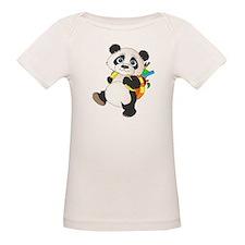 Panda bear with backpack Tee