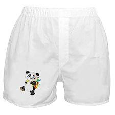 Panda bear with backpack Boxer Shorts