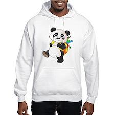 Panda bear with backpack Hoodie