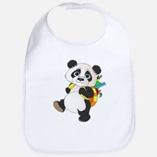 Panda bear with backpack Bib