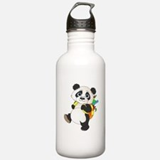 Panda bear with backpack Sports Water Bottle