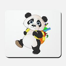 Panda bear with backpack Mousepad