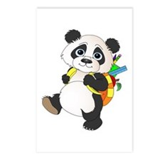 Panda bear with backpack Postcards (Package of 8)