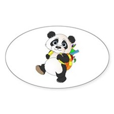 Panda bear with backpack Decal