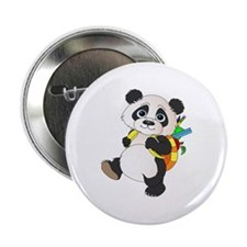 """Panda bear with backpack 2.25"""" Button"""