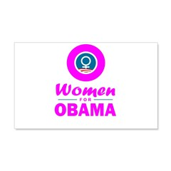 Women for Obama Pink Wall Decal